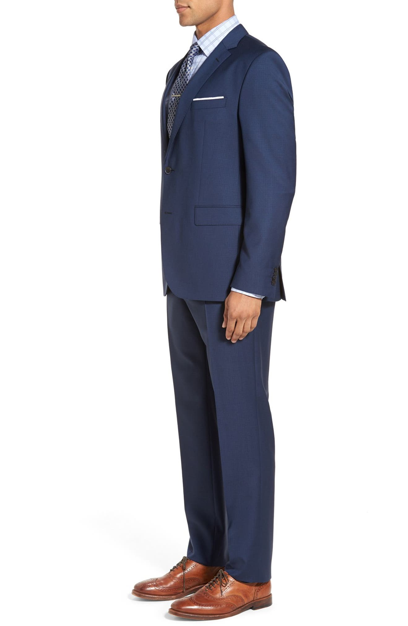 2153c4266 BOSS Jewels/Linus Trim Fit Check Wool Suit | Nordstrom