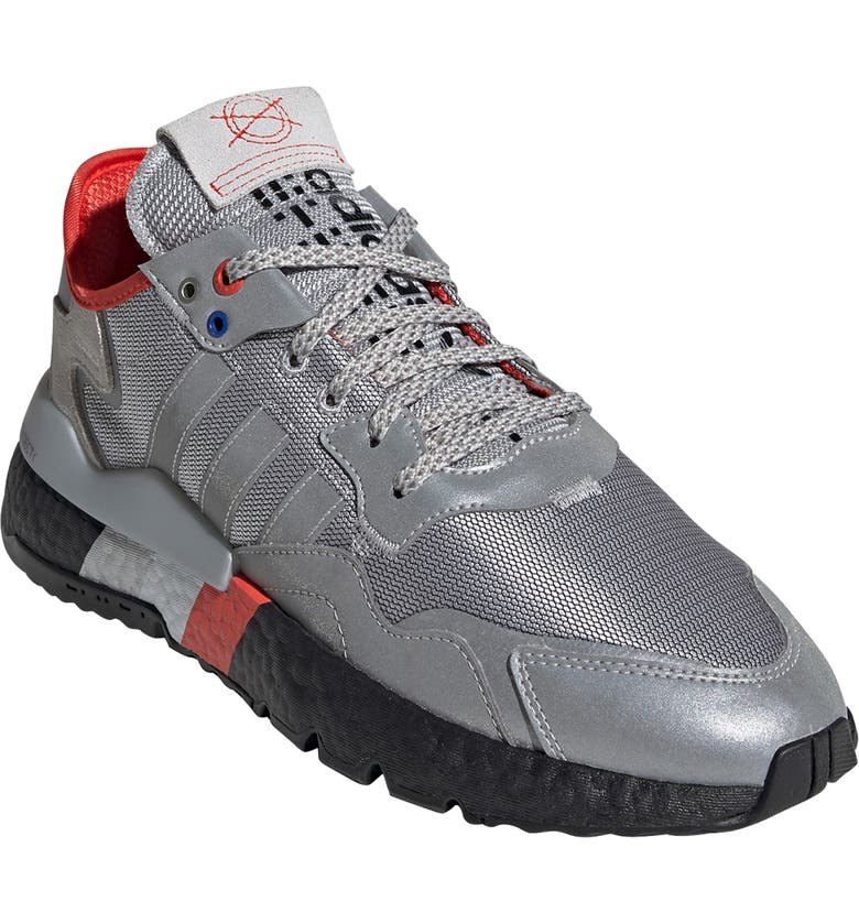 ADIDAS Nite Jogger Sneaker, Main, color, SILVER MET/ CORE BLACK