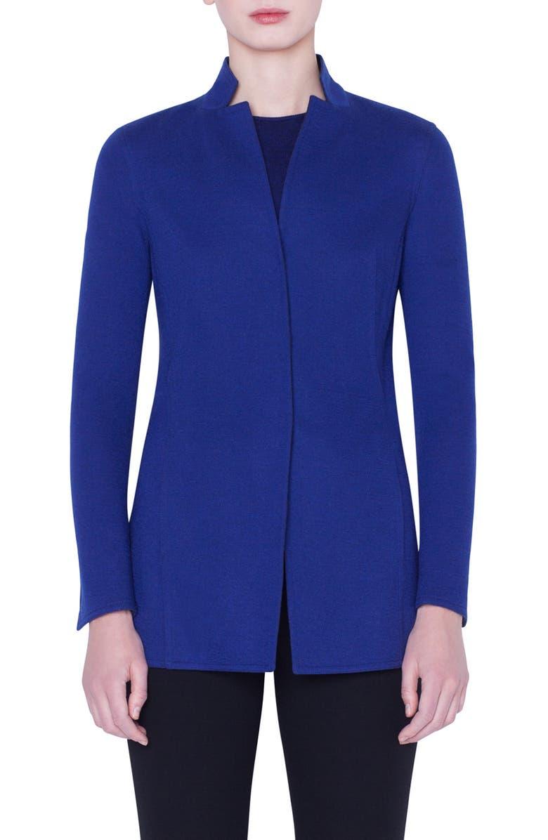 Akris Reversible Bicolor Cashmere Blend Jersey Jacket