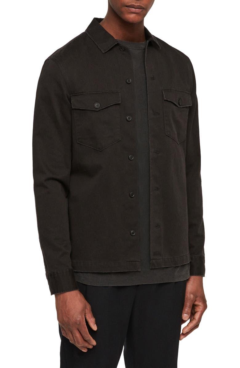 ALLSAINTS Firebase Slim Fit Shirt, Main, color, 003