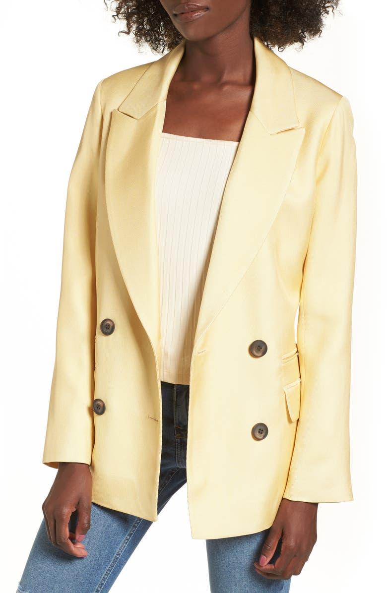 TOPSHOP Textured Blazer, Main, color, 700