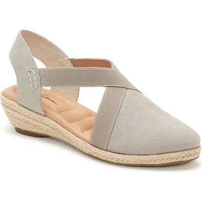 Me Too Nissa Espadrille Wedge, Grey