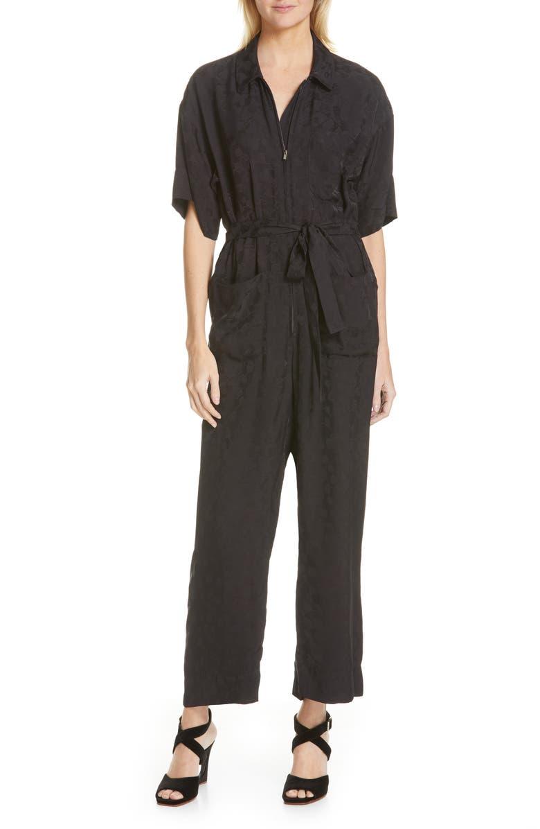RACHEL COMEY Maxfield Jumpsuit, Main, color, BLACK