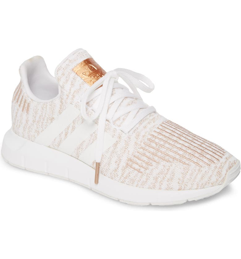 ADIDAS Swift Run Sneaker, Main, color, WHITE/ COPPER METALLIC/ WHITE