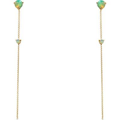 Wwake Opal Two-Stone Drop Earrings