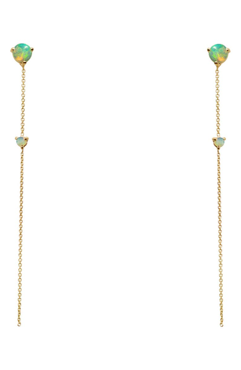 WWAKE Opal Two-Stone Drop Earrings, Main, color, 14KT GOLD