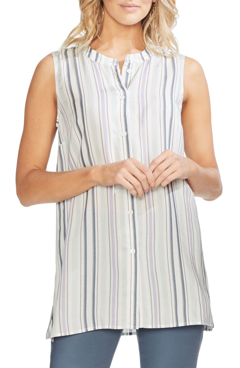 VINCE CAMUTO Sleeveless Stripe Top, Main, color, 309