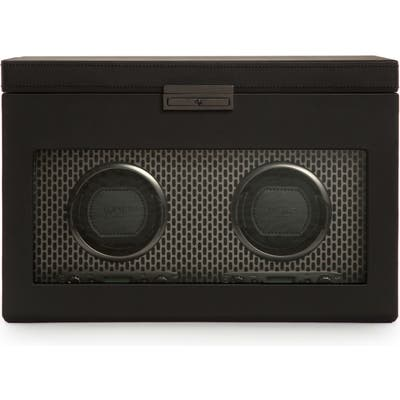 Wolf Axis Double Watch Winder & Case - Black