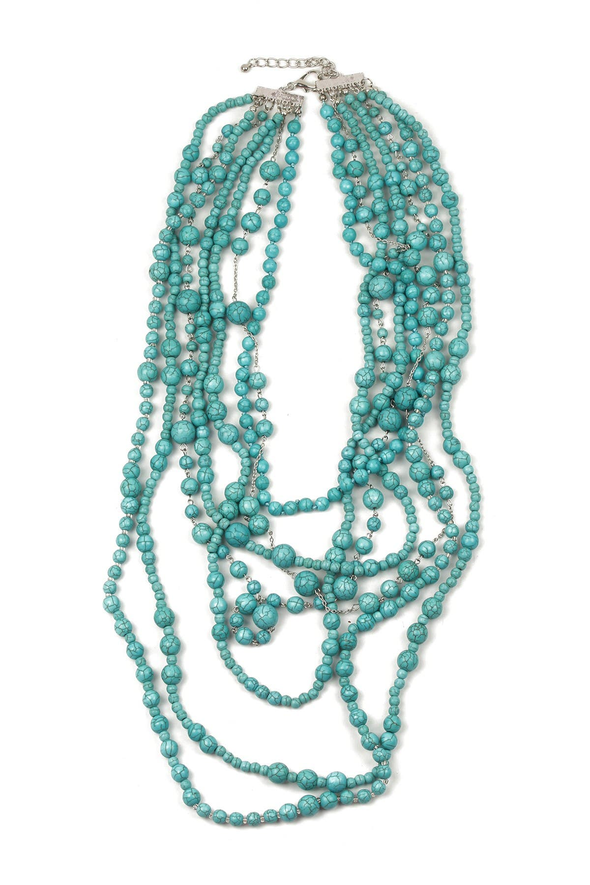 Image of Eye Candy Los Angeles Turquoise Bead Multi-Strand Necklace