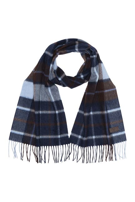Image of Hickey Freeman Cashmere Plaid Scarf