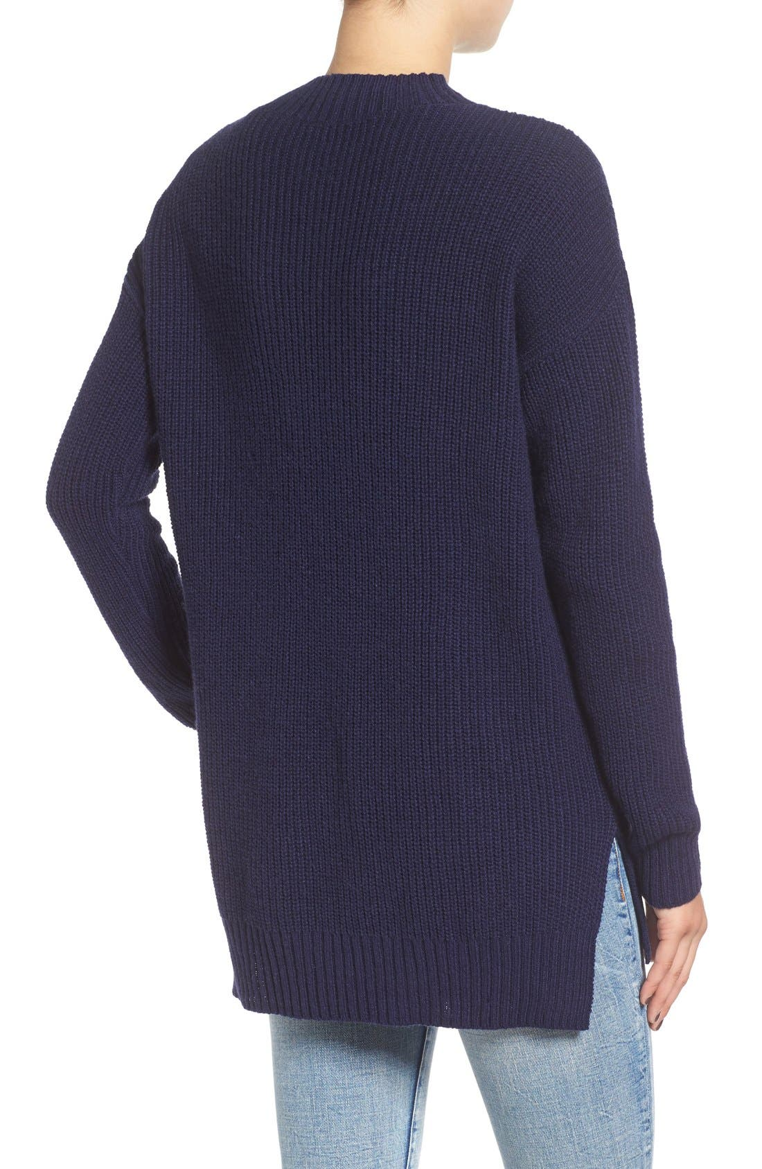 ,                             Ribbed Mock Neck Pullover,                             Alternate thumbnail 25, color,                             410