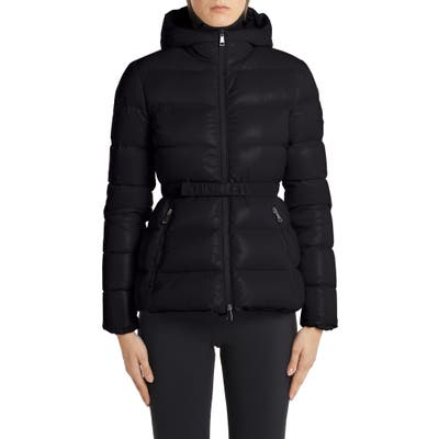 Moncler Rhin Hooded Quilted Down Puffer Jacket, (fits like 2-4 US) - Black