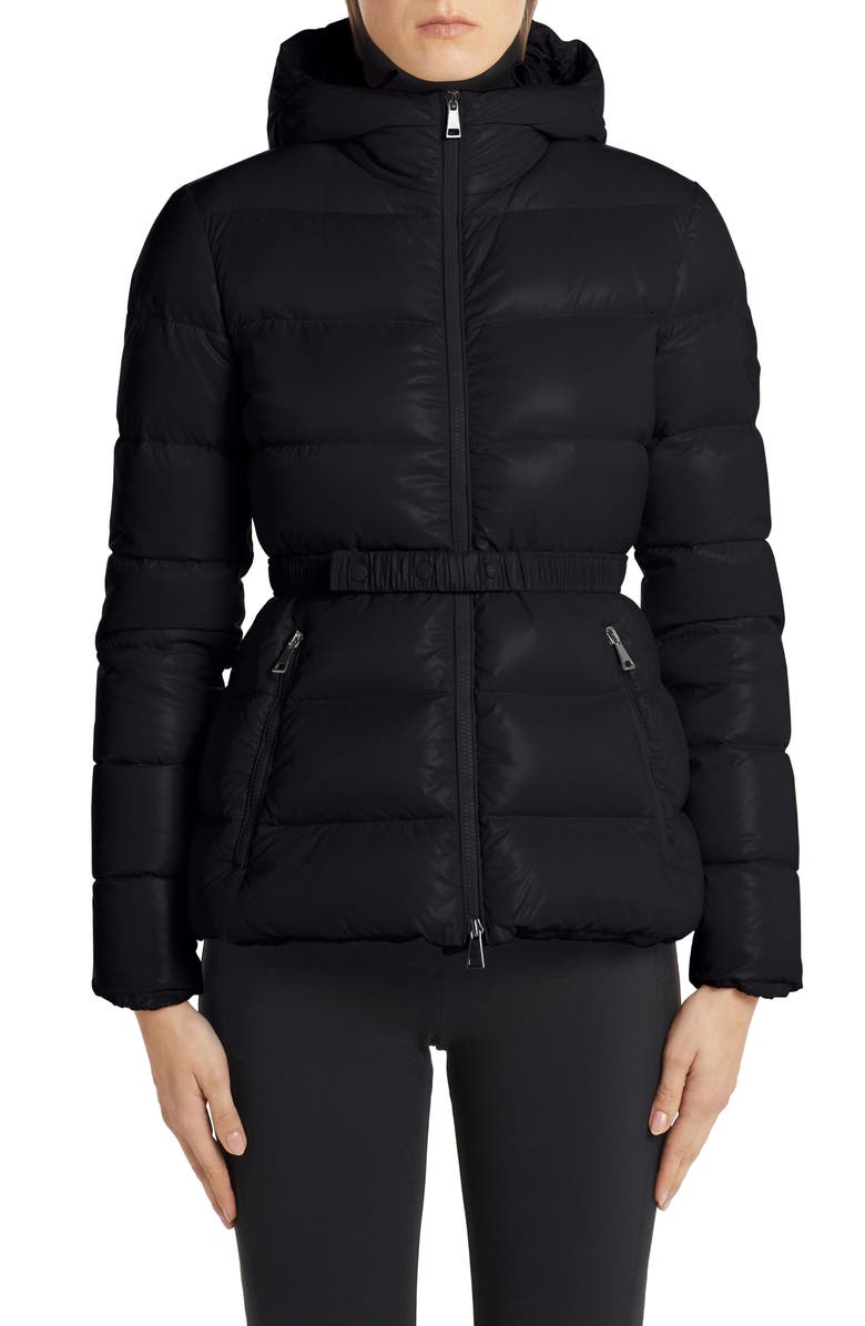 MONCLER Rhin Hooded Quilted Down Puffer Jacket, Main, color, BLACK