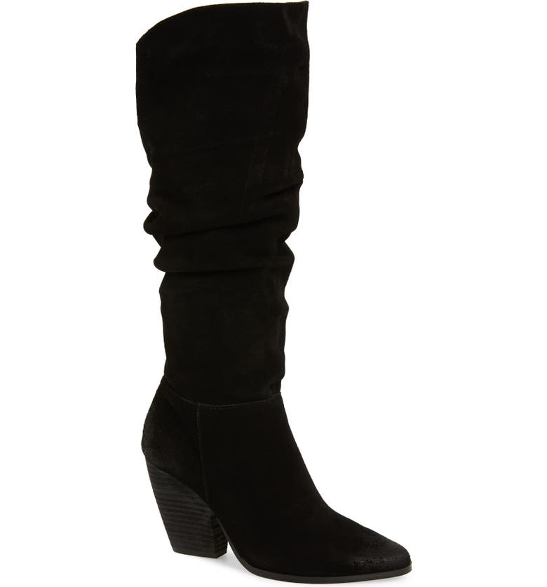 CHARLES DAVID Nancie Boot, Main, color, BLACK SUEDE