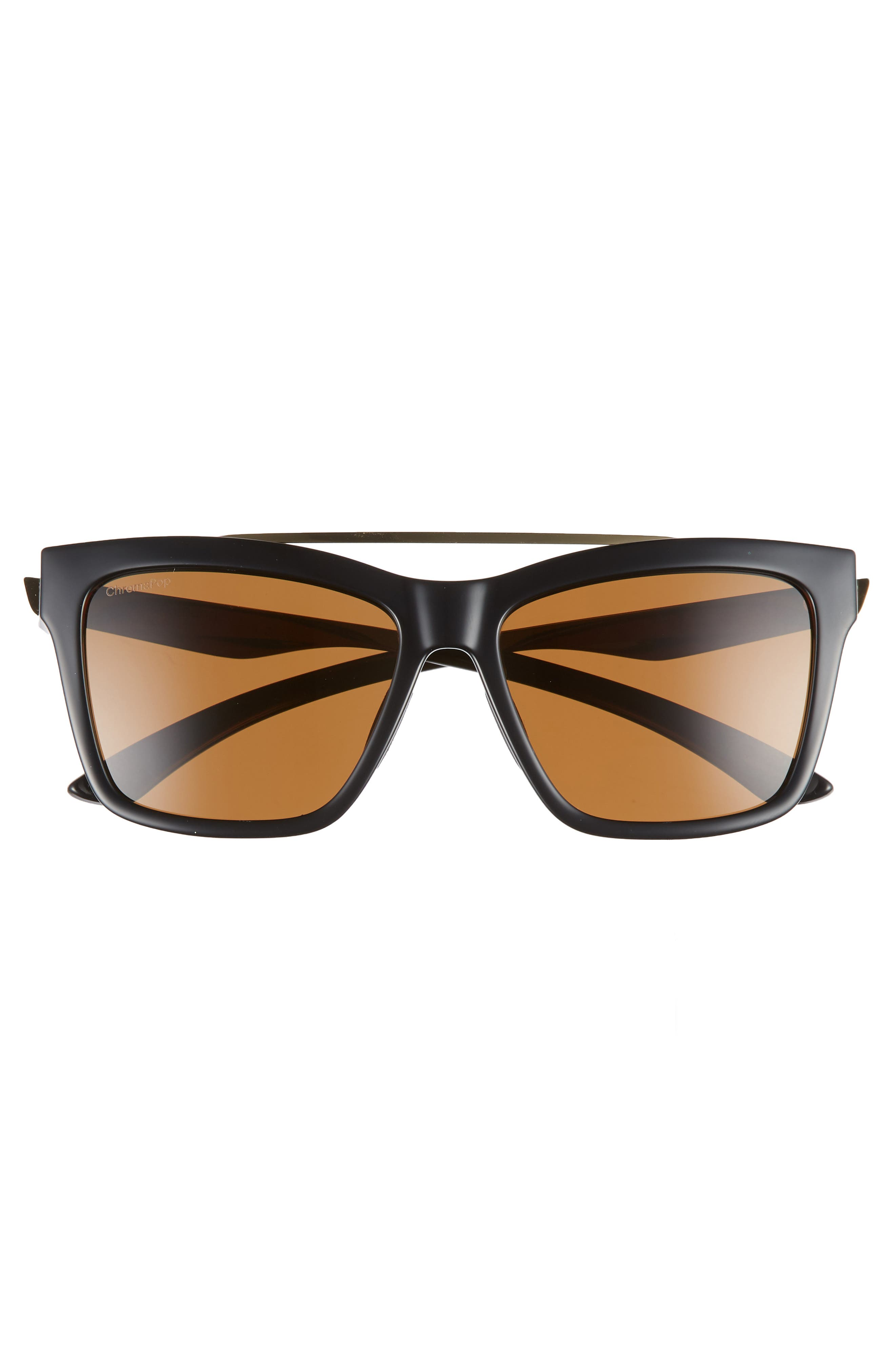 ,                             The Runaround 55mm ChromaPop<sup>™</sup> Polarized Sunglasses,                             Alternate thumbnail 3, color,                             BLACK