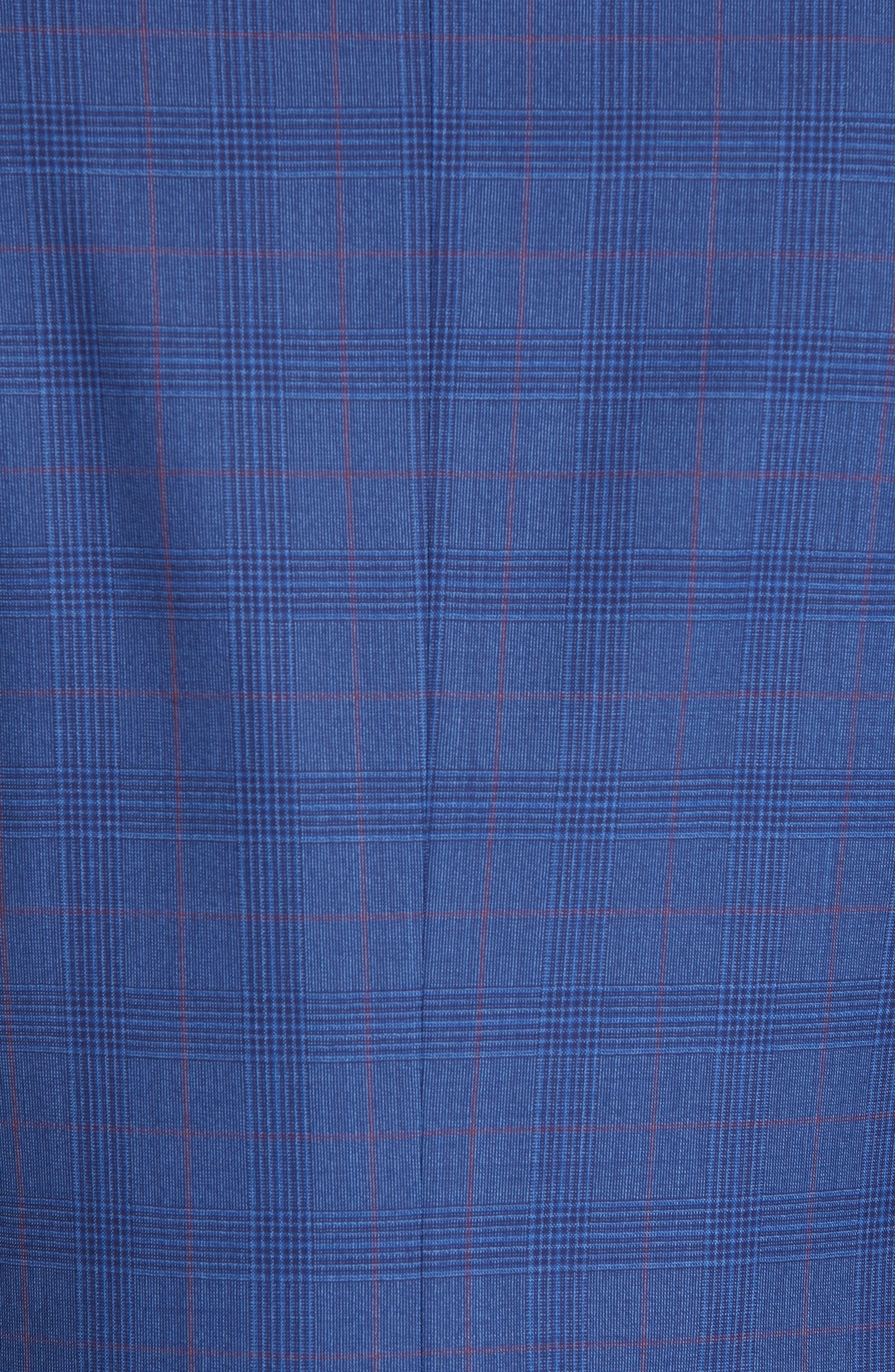 ,                             Siena Classic Fit Deco Plaid Super 130s Wool Suit,                             Alternate thumbnail 7, color,                             BLUE