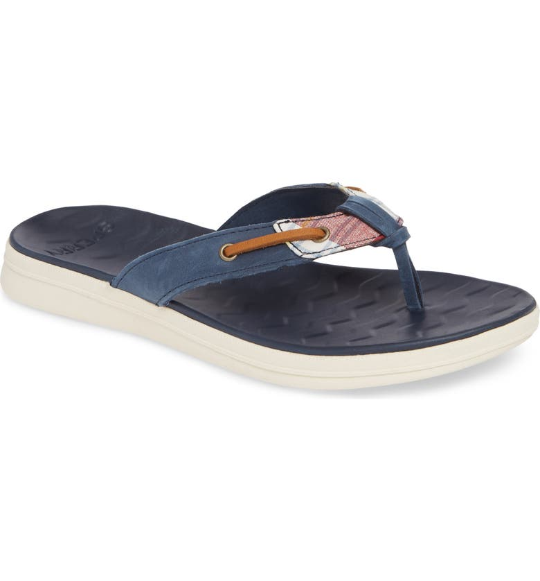 SPERRY Adriatic Flip Flop, Main, color, MADRAS/ NAVY