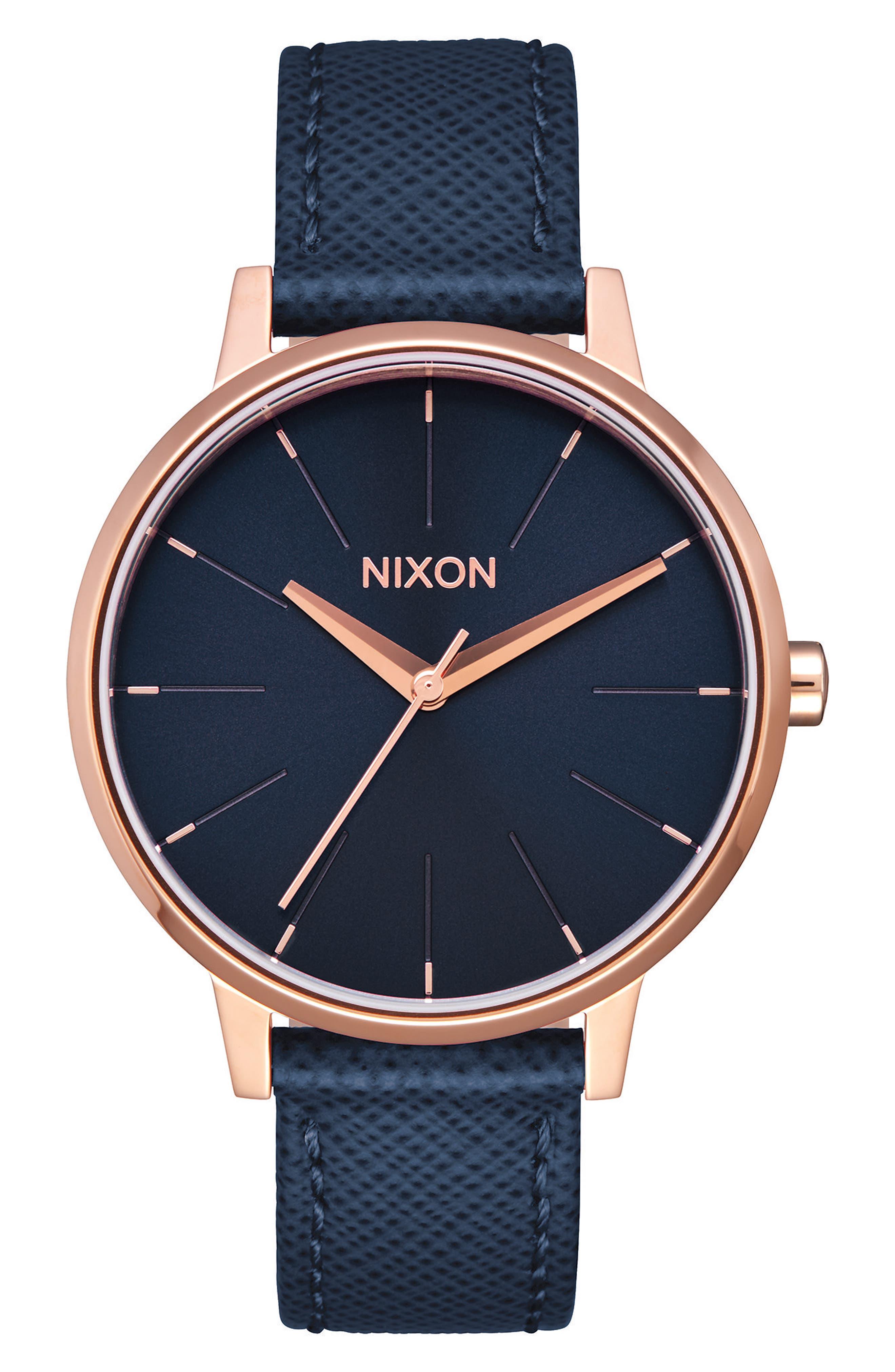 ,                             'The Kensington' Leather Strap Watch, 37mm,                             Main thumbnail 36, color,                             401