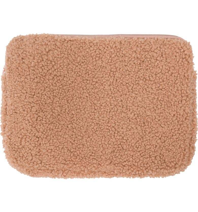 MYTAGALONGS Harlow Fuzzy Laptop Sleeve, Main, color, FAWN