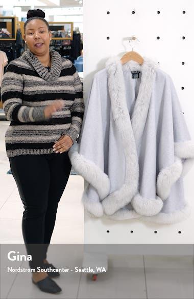 Genuine Fox Fur Trim Cashmere Cape, sales video thumbnail