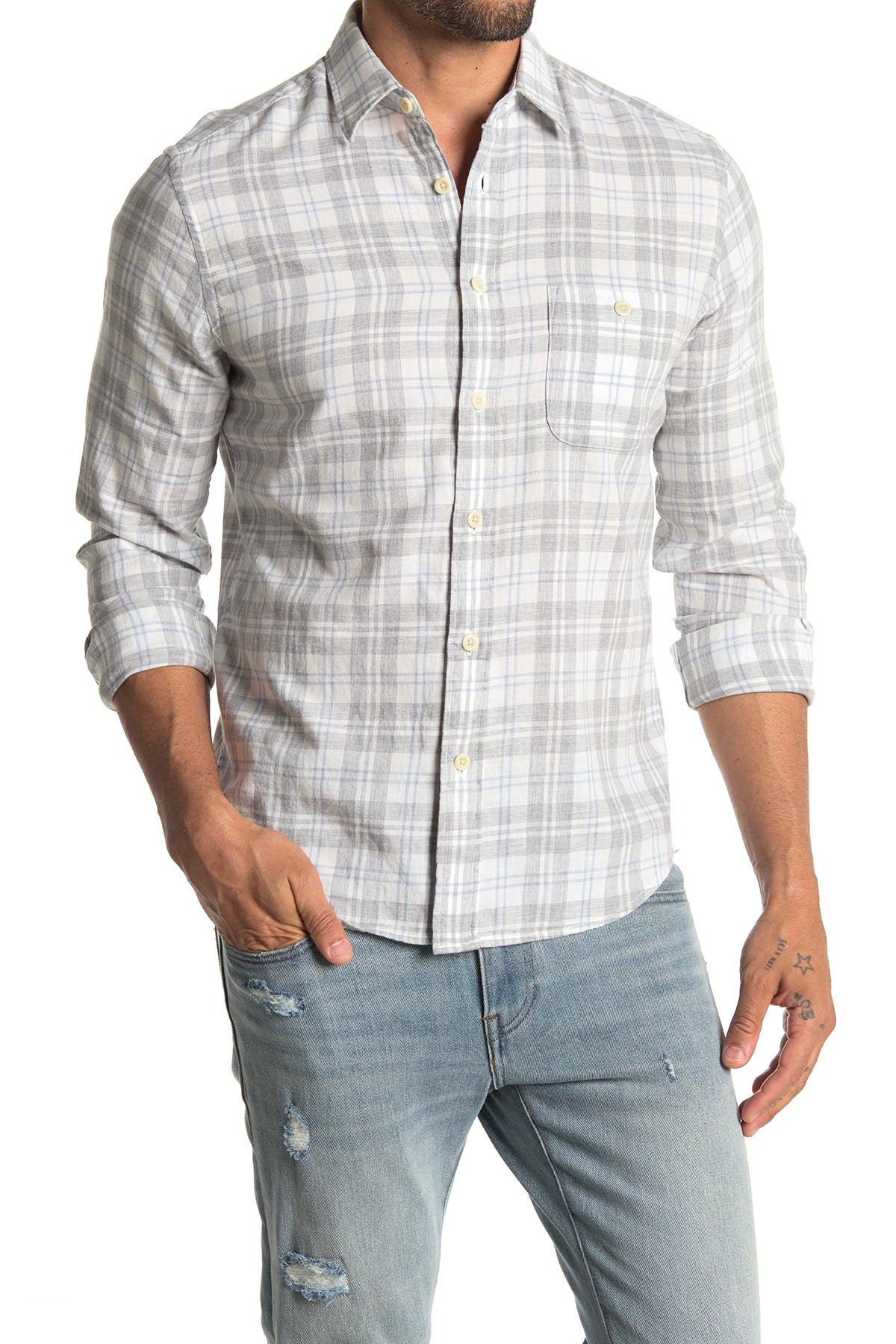 Image of FAHERTY BRAND Everyday Plaid Slim Fit Shirt