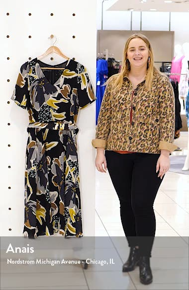 Roland Belted Floral Silk Midi Dress, sales video thumbnail