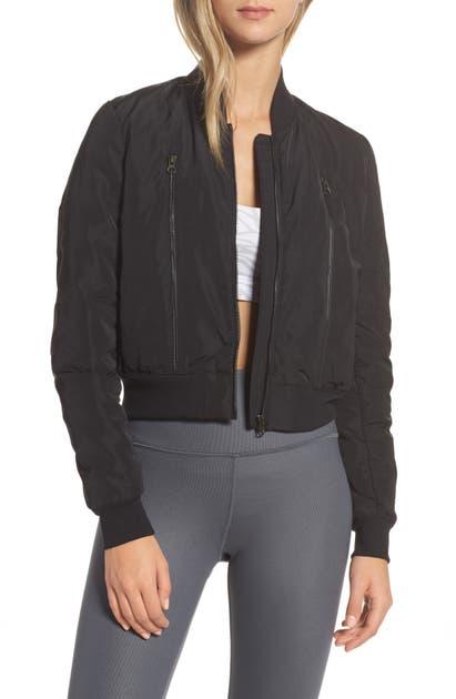 Alo Yoga Off Duty Bomber Jacket In Black