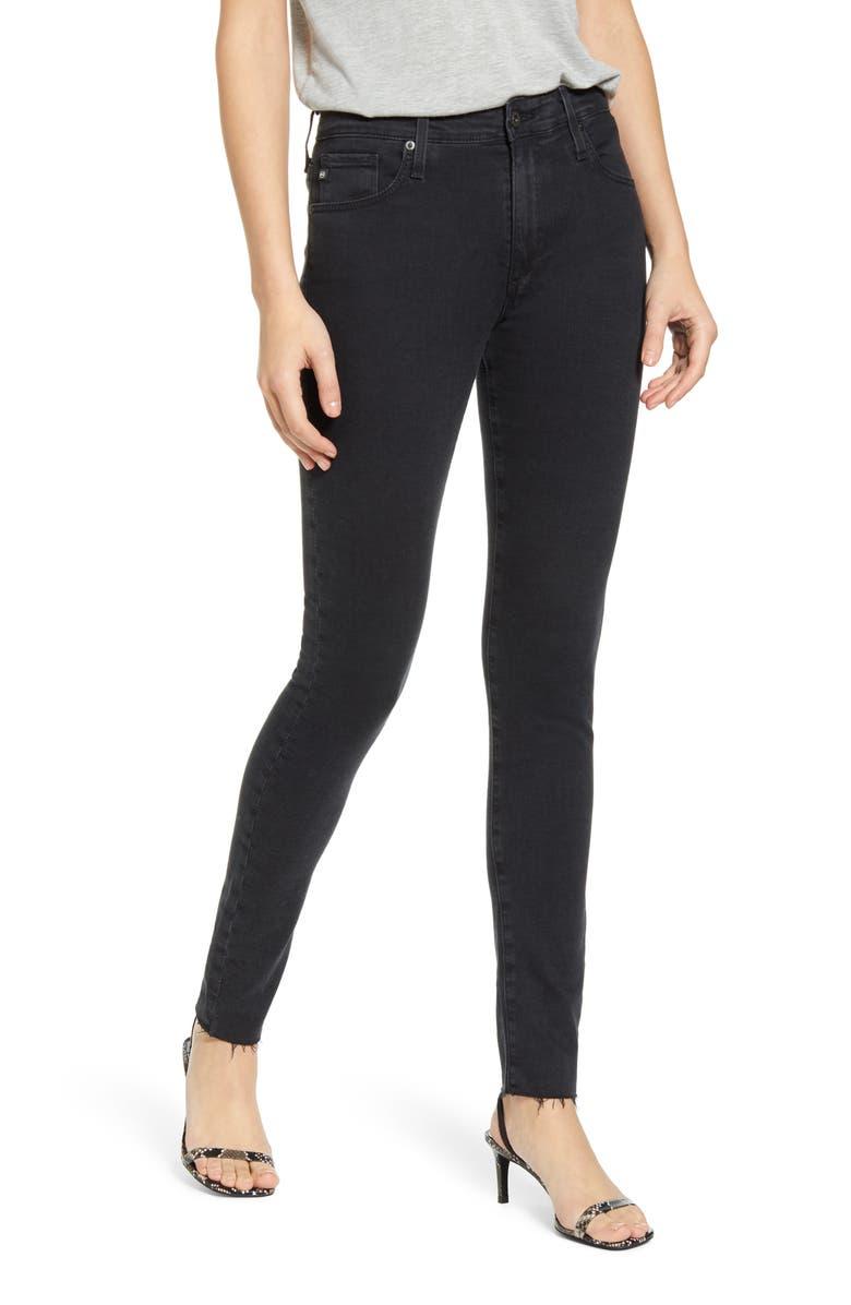 AG Farrah High Waist Skinny Jeans, Main, color, ALTERED BLACK