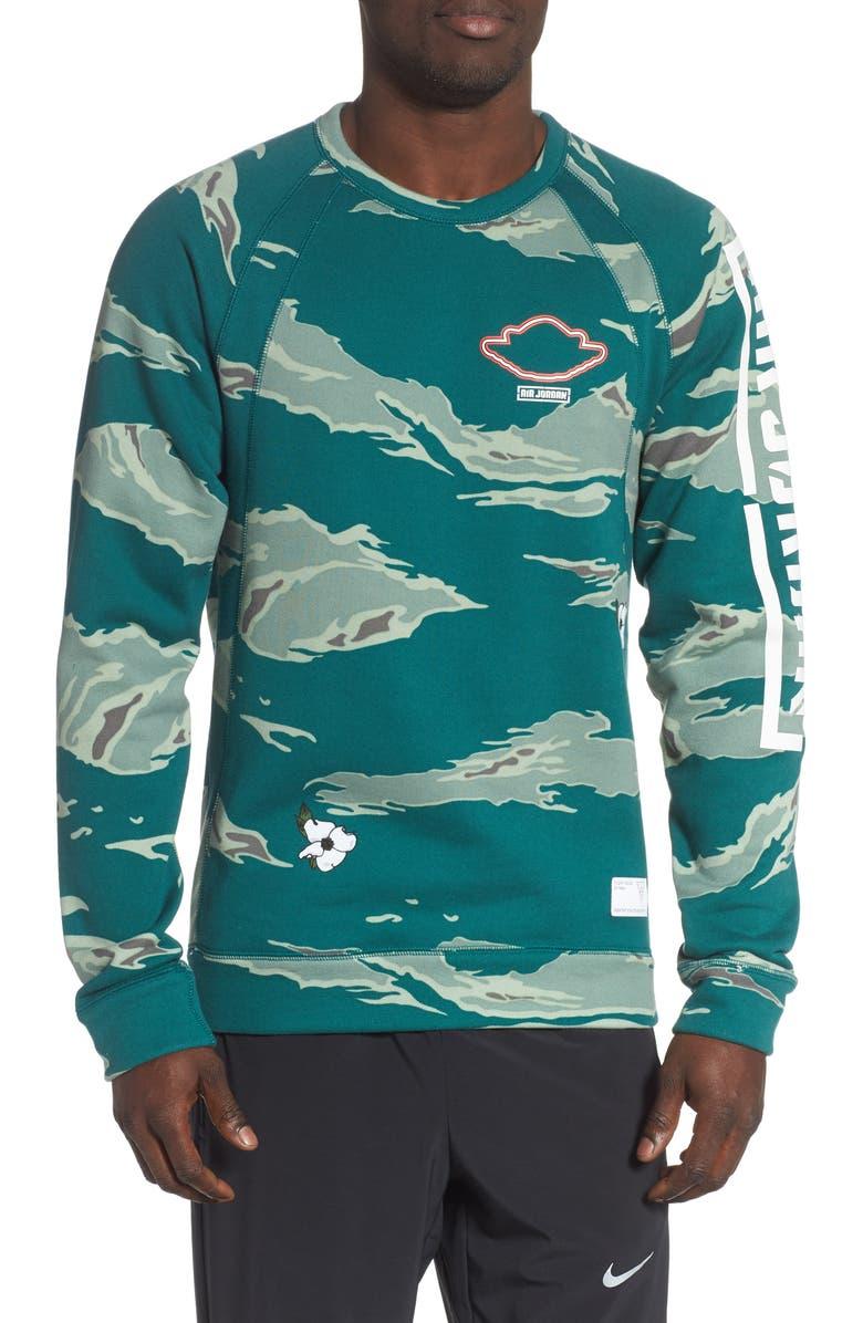 JORDAN City of Flight Camo Print Sweatshirt, Main, color, 310