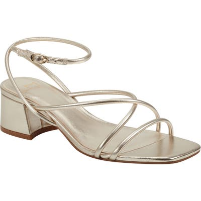 Marc Fisher Ltd Jared Ankle Strap Sandal, Metallic