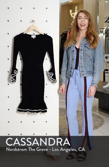 Ribbed Ruffle Detail Dress, sales video thumbnail