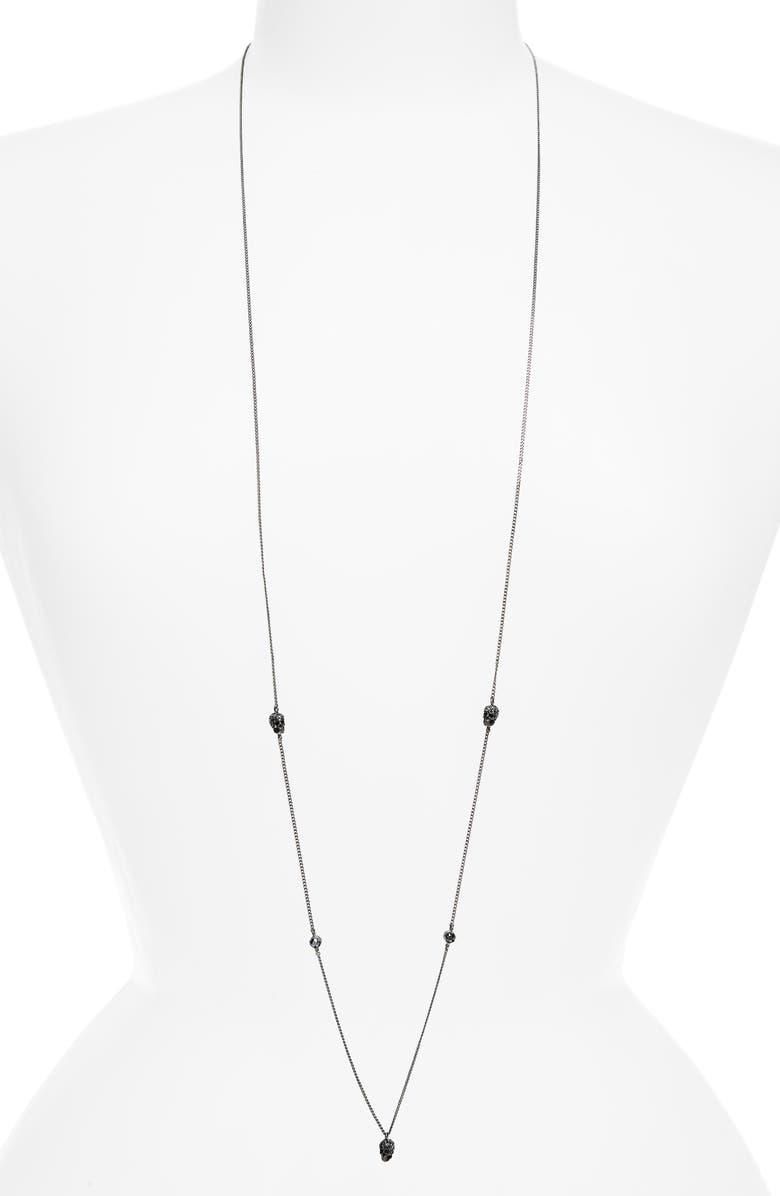 ALEXANDER MCQUEEN Mini Skull Chain Necklace, Main, color, 040