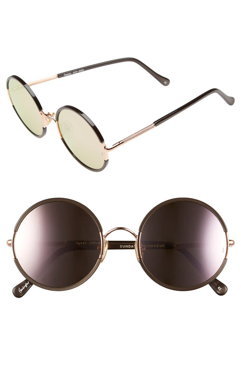 SUNDAY SOMEWHERE 'Yetti' 53mm Round Sunglasses, Main, color, 710