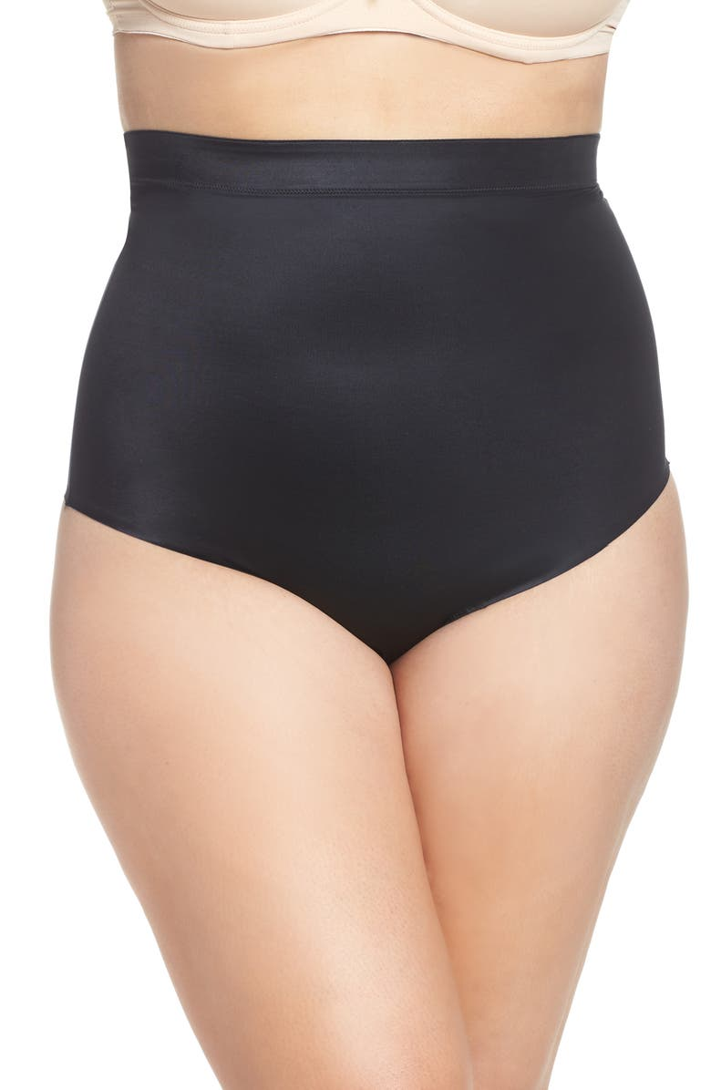 SPANX<SUP>®</SUP> Suit Your Fancy High Waist Thong, Main, color, VERY BLACK