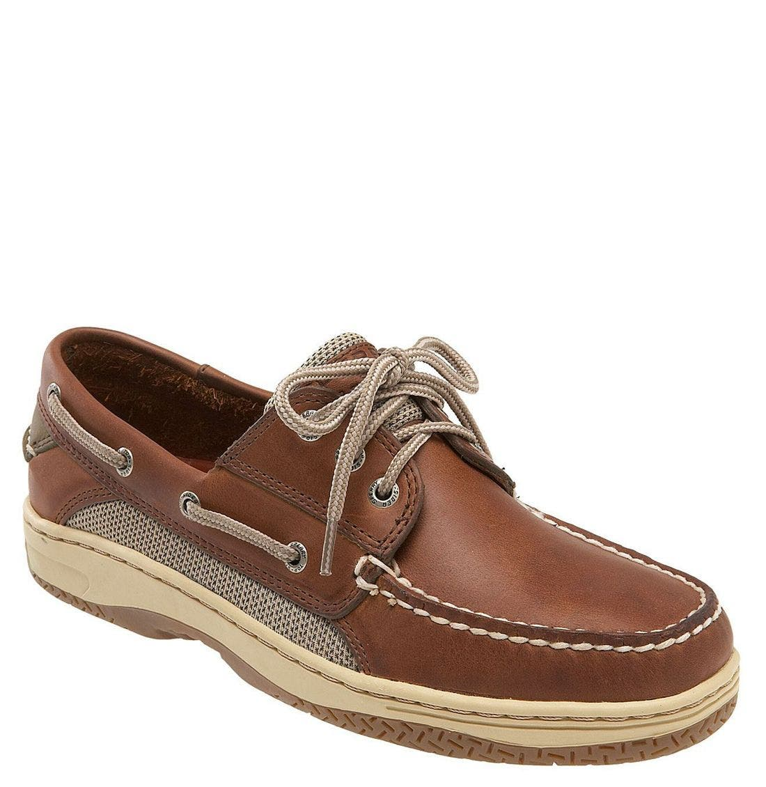 'Billfish' Boat Shoe, Main, color, Dark Tan