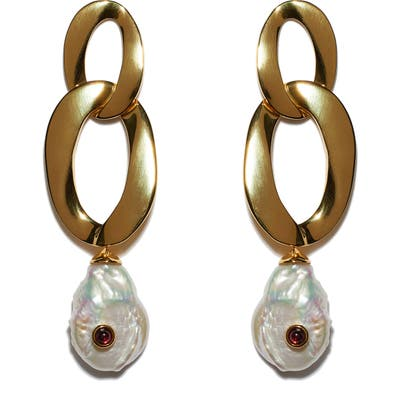 Lizzie Fortunato Basilicata Mother-Of-Pearl Drop Earrings