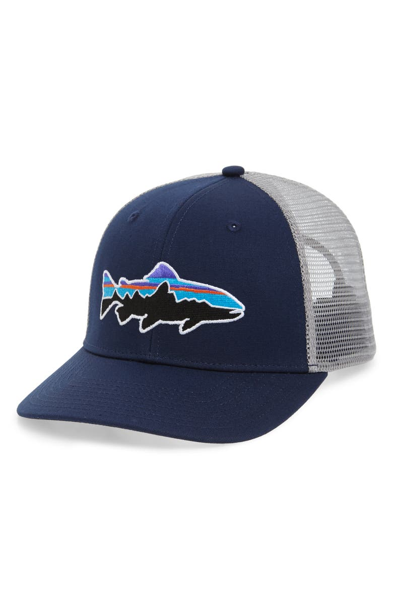 67263ae6 Fitz Roy Trout Trucker Hat, Main, color, CLASSIC NAVY/ DRIFTER GREY