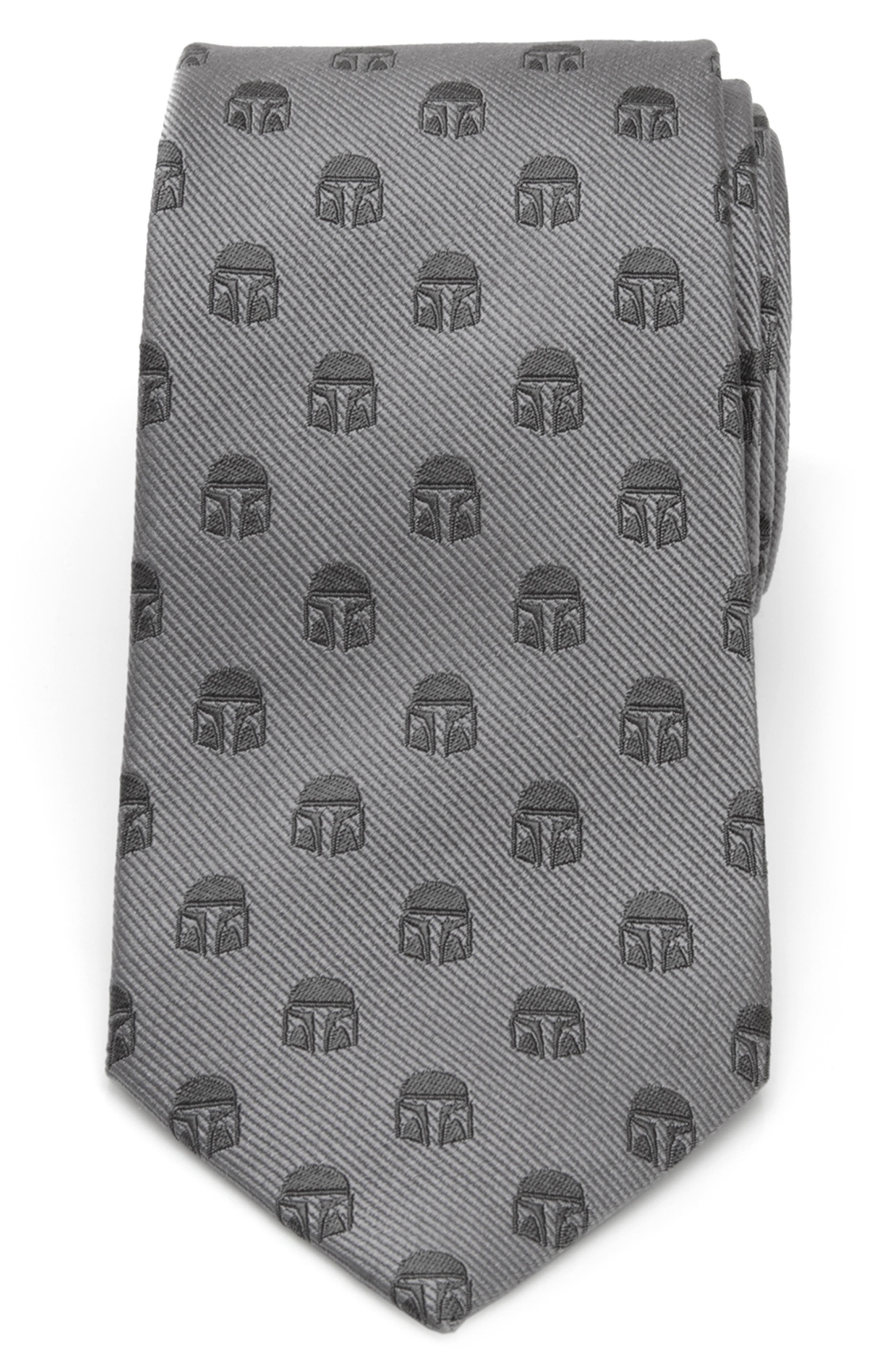 For the guy who\\\'s always on the job, this silk tie is dotted with helmets just like the ones the Mandalorian never take off. Style Name: Cufflinks, Inc. Star Wars Mandalorian Helmet Silk Tie. Style Number: 6171448. Available in stores.