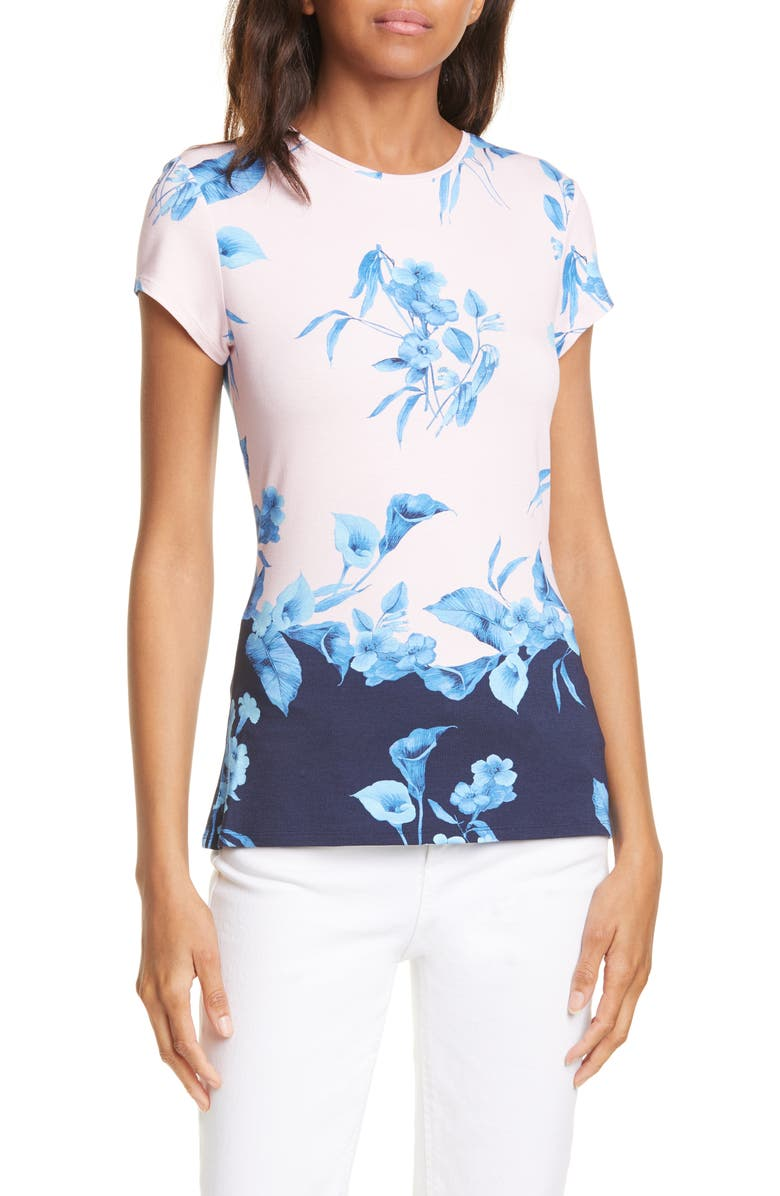 Xennia Fantasia Colorblock Floral Tee by Ted Baker London