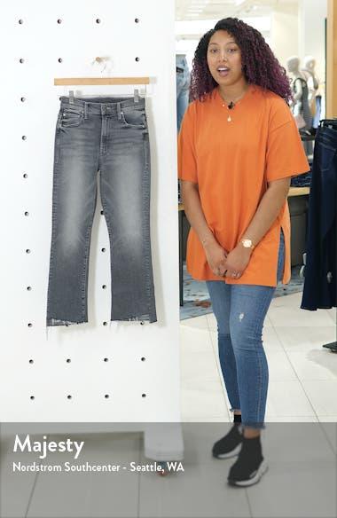 The Insider High Waist Crop Step Fray Hem Bootcut Jeans, sales video thumbnail
