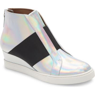 Linea Paolo Amber Wedge Sneaker, Metallic