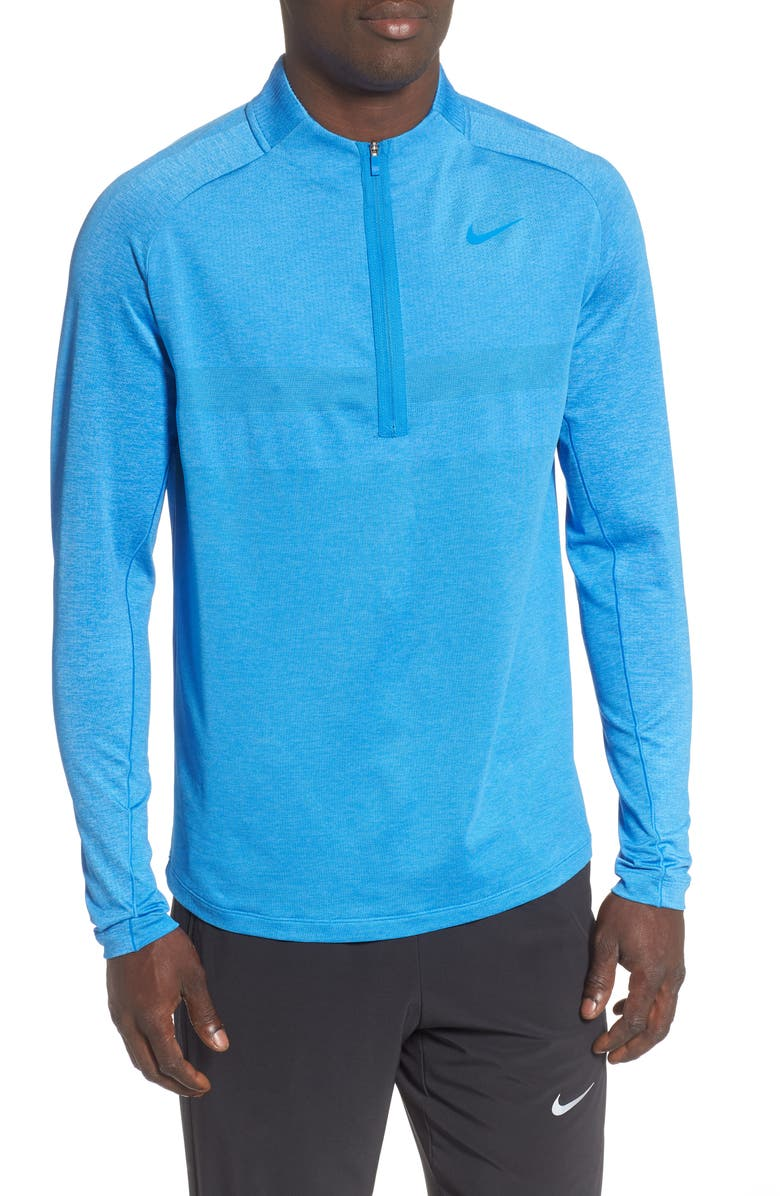 NIKE Dry Half Zip Pullover, Main, color, LIGHT PHOTO BLUE