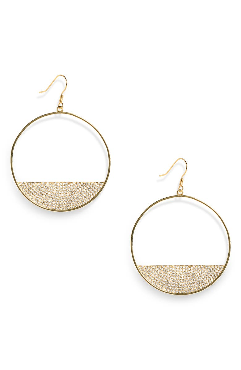 LISA FREEDE Eclipse Hoop Earrings, Main, color, GOLD