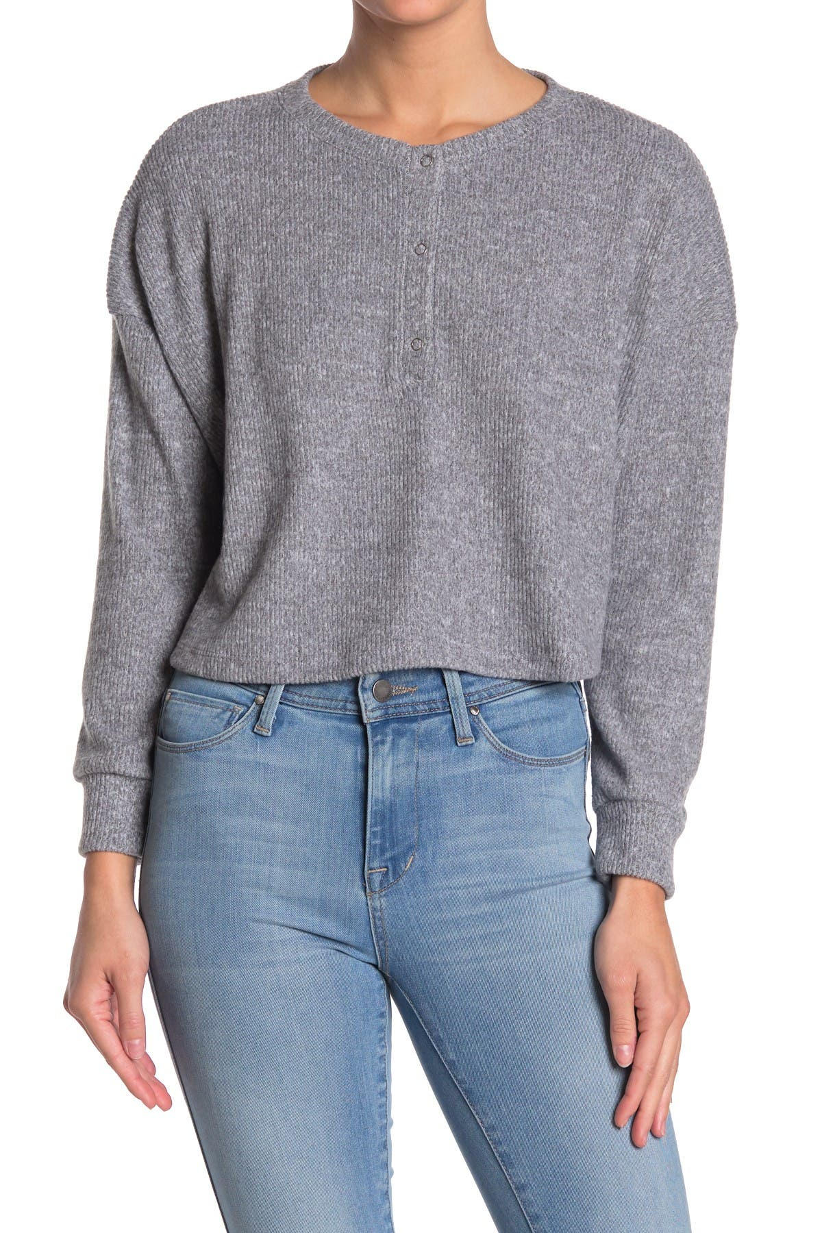 Image of Abound Cropped Thermal Henley