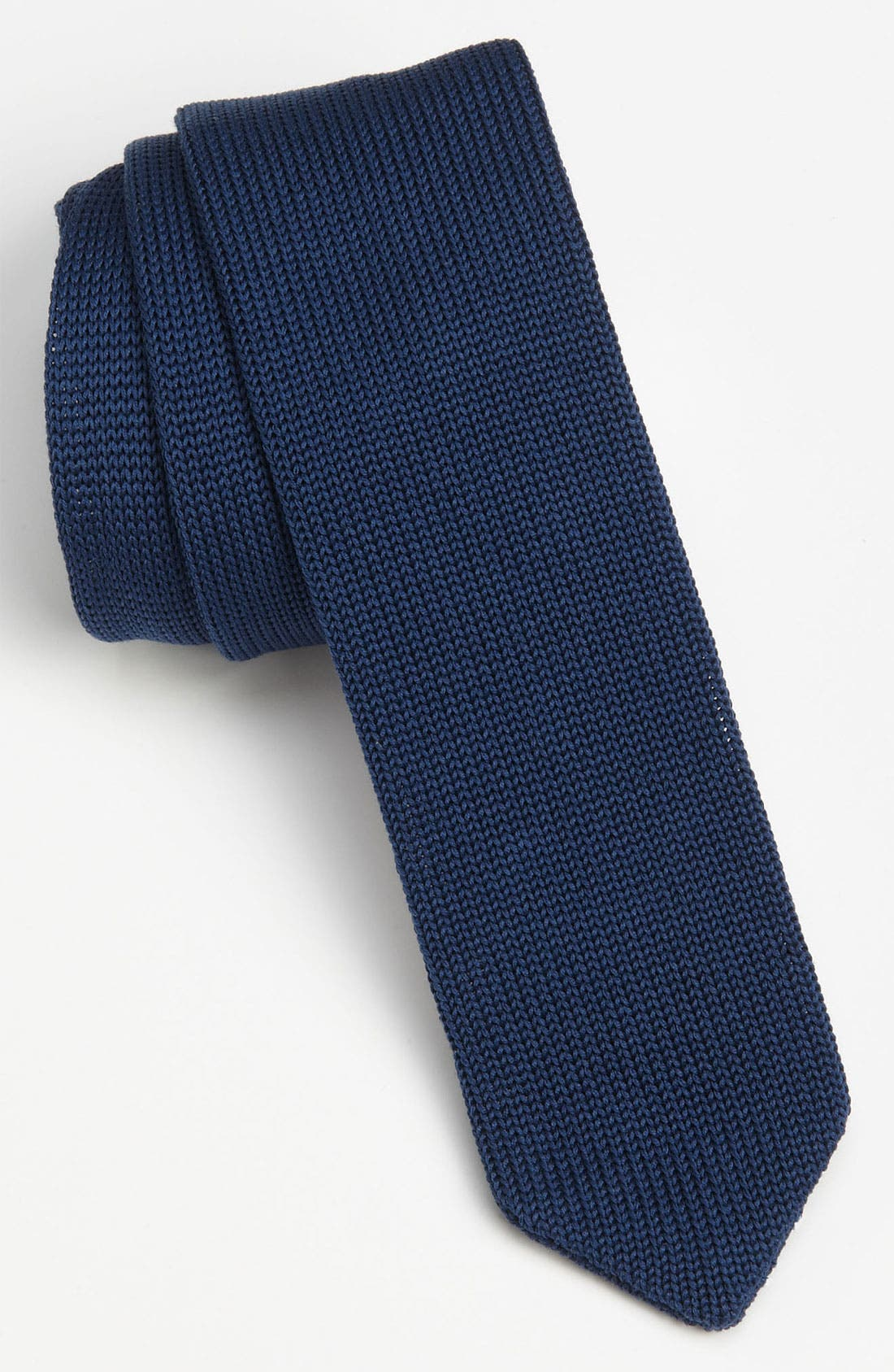 ,                             Black Knit Tie,                             Main thumbnail 11, color,                             456