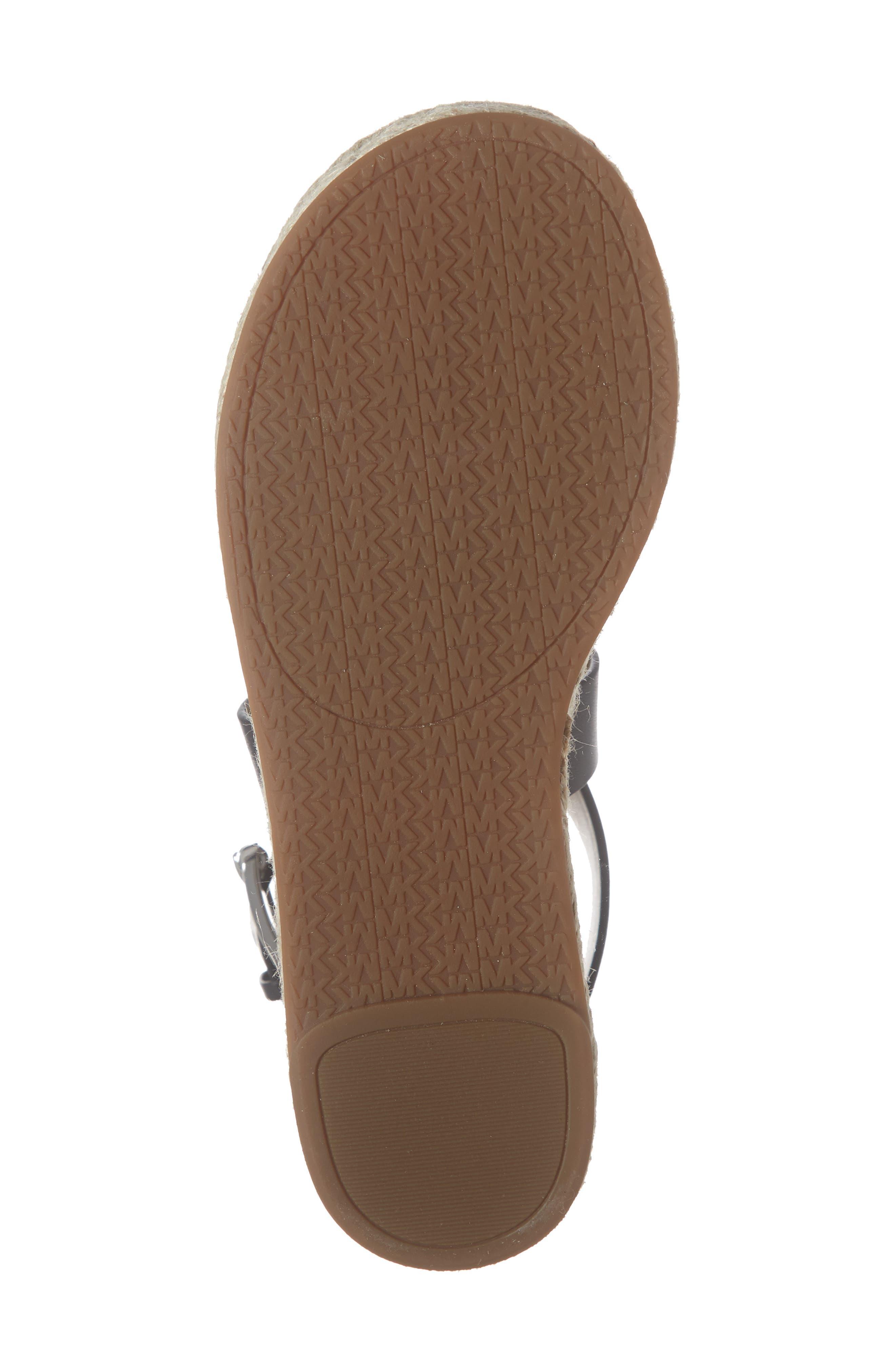 ,                             'Darby' Crisscross Espadrille Sandal,                             Alternate thumbnail 6, color,                             BLACK VACHETTA LEATHER