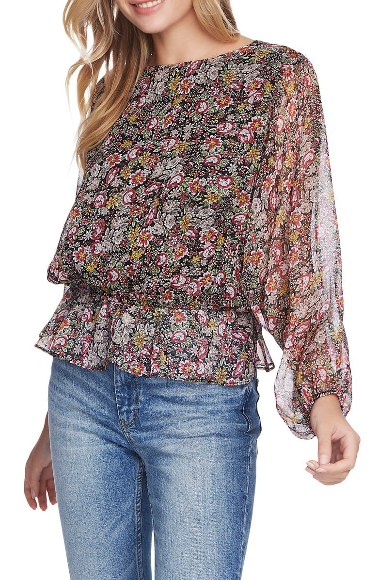 1.STATE Forest Gardens Blouson Top, Main, color, 001