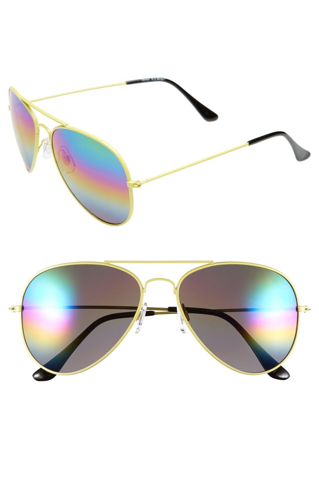 ,                             'Sunset' 57mm Aviator Sunglasses,                             Main thumbnail 3, color,                             700