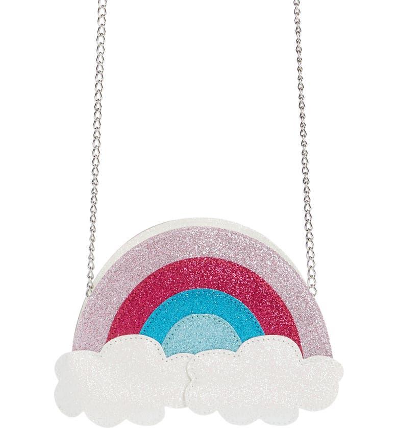 CAPELLI NEW YORK Glitter Rainbow Crossbody Bag, Main, color, 950