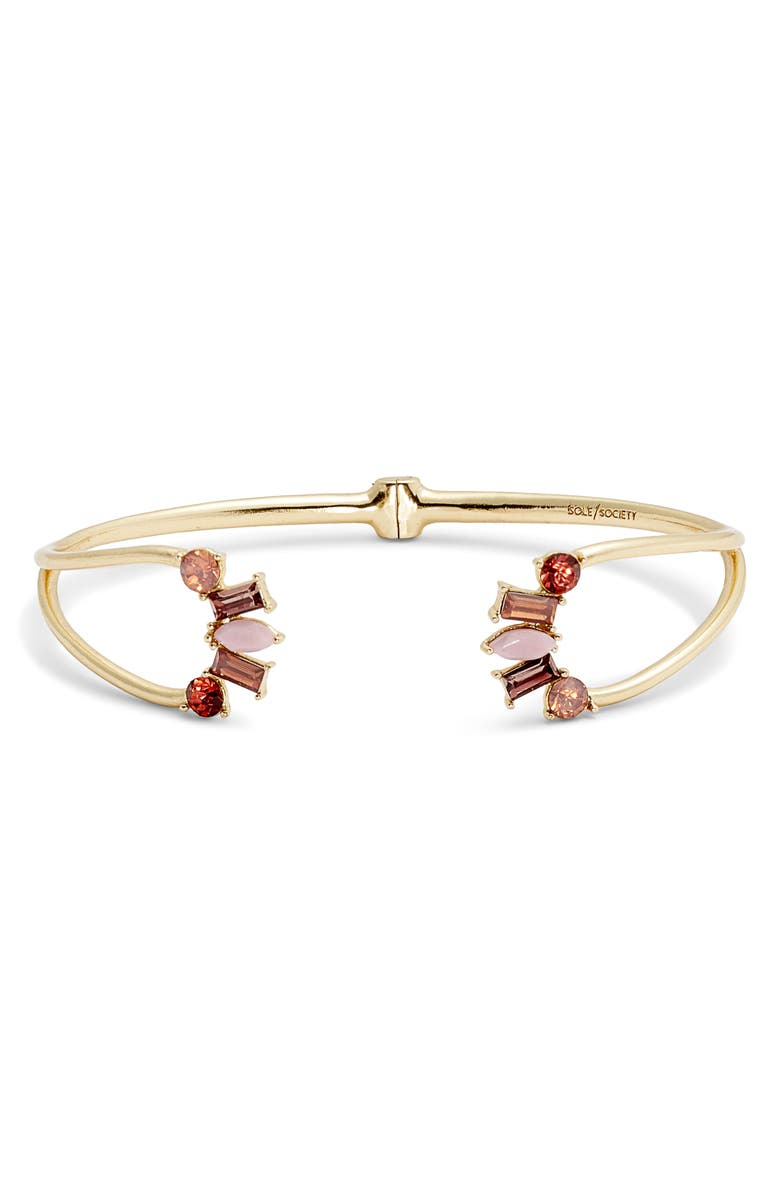 SOLE SOCIETY Hinged Bracelet, Main, color, 711